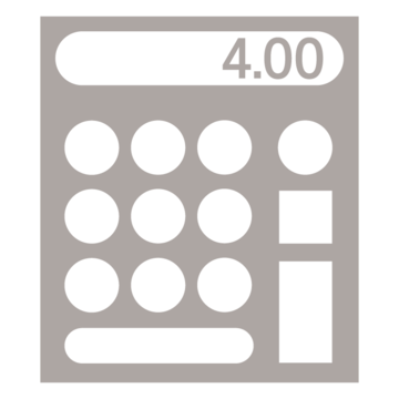 An icon image of a calculator.