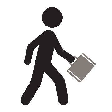 A person carrying a briefcase.